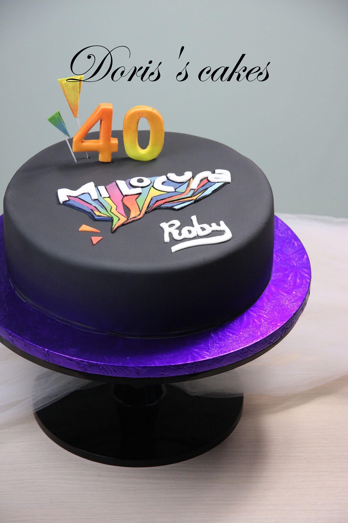 Roby Mi Locura Logo Cake