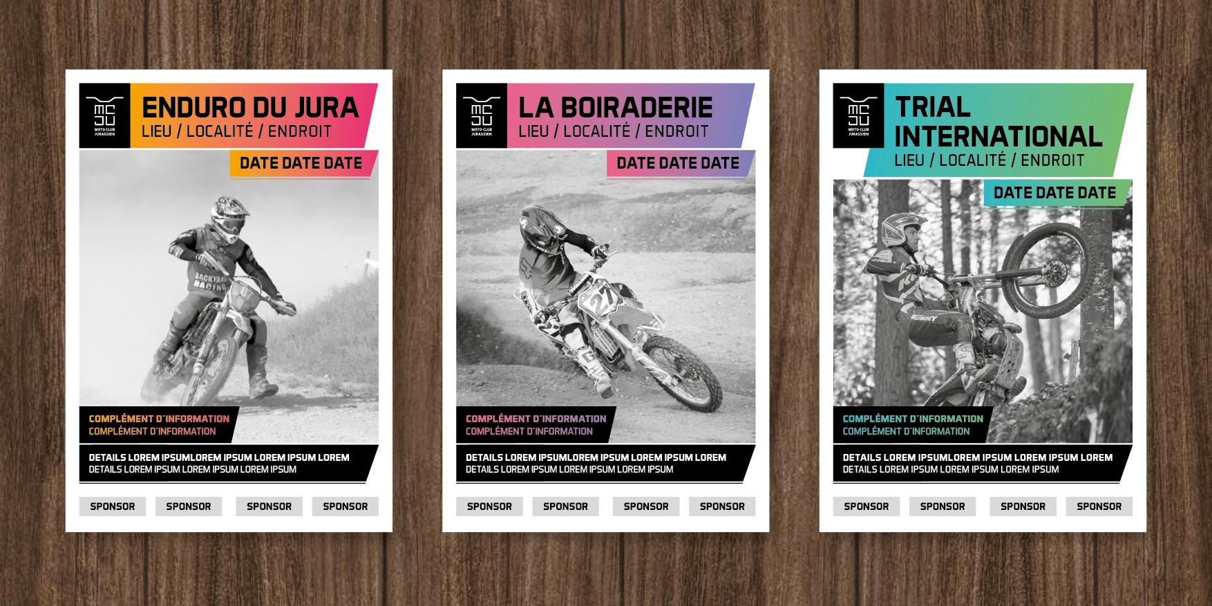 Moto Club Jurassien Poster Concept.